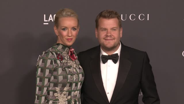 Julia Carey and James Corden at 2016 LACMA Art Film Gala Honoring Robert Irwin And Kathryn Bigelow Presented By Gucci at LACMA on October 29 2016 in...