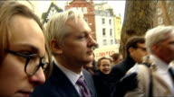 Julian Assange wins right to take his case against extradition to the Supreme Court Julian Assange statement ENGLAND London Royal Courts of Justice...