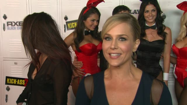 INTERVIEW Julie Benz on what brings her to Comic Con the craziest costumes she has seen thus far who her favorite Super Hero is and why the Playboy...