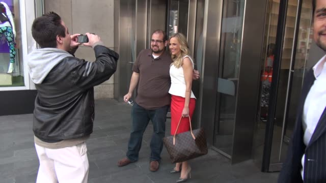 Julie Benz outside VH1 in New York NY on 4/10/13