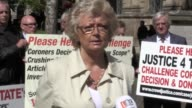 Julie Hambleton and other Birmingham pub bombings campaigners from the Justice4the21 group who are crowdfunding a High Court challenge of a coroner's...