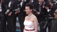 Juliette Binoche and Abbas Kiarostami at the Closing Night/The Tree Red Carpet Cannes Film Festival 2010 at Cannes