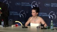 Juliette Binoche on the winning the Best Actress award at the Palme D'Or Press Conference Cannes Film Festival 2010 at Cannes