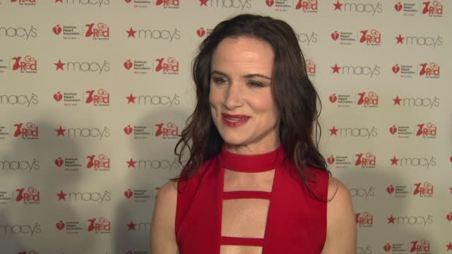 INTERVIEW Juliette Lewis on what she's learned about heart disease at The American Heart Association's Go Red For Women Red Dress Collection 2017...