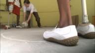 July 7 2010 MS Young amputees with prosthetic legs kicking soccer ball during physical therapy / PortauPrince Haiti