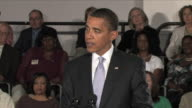 July2 2009 MS President Obama giving speech at townhall meeting about the importance of reforming the US healthcare system / Annandale Virginia /...