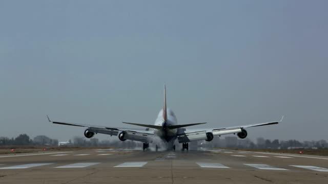 jumbo jet Passagierflugzeug Landung