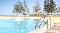 Jump into swimming pool