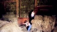 Jumping In Barn