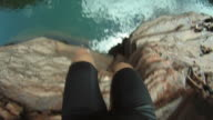 HD-SLOW-MOTION: Springen in das Wasser