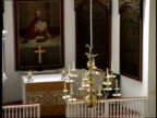 June 16 2003 HA Chandelier hanging in Old North Church in Boston / Boston Massachusetts United States