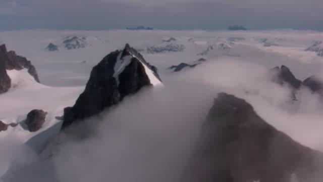 Juneau Ice Field Glacier Antarctica Flying Snow Mountains