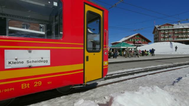 Jungfraubahn at Kleine Scheidegg, Bernese Alps, Switzerland, Europe
