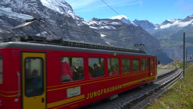 Jungfraubahn Railway at Kleine Scheidegg, Bernese Alps, Switzerland, Europe