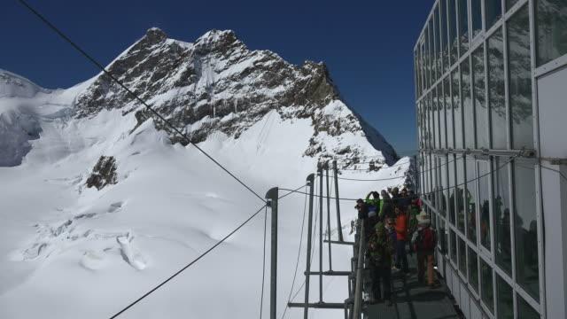 Jungfraujoch, view from Sphinx to Jungfrau, Bernese Alps, Switzerland, Europe
