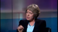 Junior doctors recruitment system scrapped ENGLAND London GIR INT Patricia Hewitt MP LIVE studio interview SOT have been serious problems with...