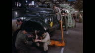 MONTAGE Junior Leaders performing vehicle maintenance at an Army school workshop / United Kingdom / Armed forces recruitment