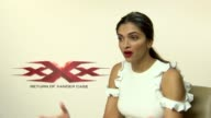 Junket Interview with Deepika Padukone ahead of the release of new movie xXx Return of Xander Cage She discusses the diverse ensemble crowd chemistry...