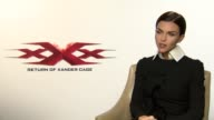 Junket Interview with Ruby Rose ahead of the release of new movie xXx Return of Xander Cage She discusses doing her own stunts Vin's scene with the...
