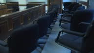 Jury Box Inside Courtroom on December 04 2013 in Kankakee Illinois