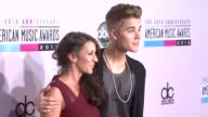 Justin Bieber Patricia Bieber at The 40th American Music Awards Arrivals on in Los Angeles CA