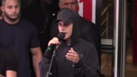 Justin Bieber performing If i was your boyfriend live outside NRJ radio station in Paris on September 16 2015 in Paris France