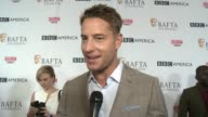 INTERVIEW Justin Hartley on the BAFTA TV Tea Party the Emmys the popularity of what's coming up on the show and why people love the show at BAFTA LOS...