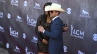 Justin Moore and Kate Moore at the 49th Annual Academy of Country Music Awards Arrivals at MGM Grand Garden Arena on April 06 2014 in Las Vegas Nevada