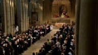 Justin Welby enthronement service as Archbishop of Canterbury Welby reads from gospel according to St Matthew SOT / African band continue playing and...