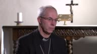 Kent Canterbury Cathedral INT Most Reverend Justin Welby interview SOT on complexities of homelessness on government policies regarding rough sleeping