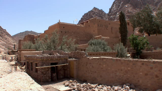 WS Justinian's defensive walls at Monastery of St Catherine, Mount Sinai, Egypt