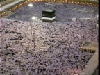 Kaaba during prayers of great annual pilgrimage of Muslims Mecca Saudi Arabia AUDIO