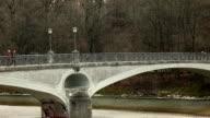 Kabelsteg - Bridge over the river Isar in Munich