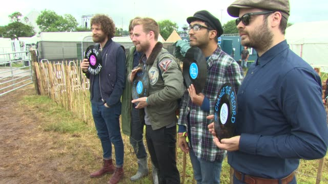 Kaiser Chiefs at Celebrity Sightings at Glastonbury Festival at Glastonbury Festival Site on June 27 2014 in Glastonbury England