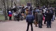 Kalashnikov wielding gunmen on Saturday seized a police station and a security building in Ukraines restive eastern industrial heartland amid...