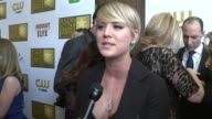 INTERVIEW Kaley Cuoco on the event on the longevity of her series and on binge watching television at the 2014 Critics' Choice Television Awards at...