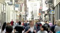 Kalverstraat shopping street Amsterdam city center