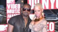 Kanye West and Amber Rose at the 2009 MTV Video Music Awards at New York NY