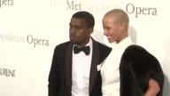 Kanye West and Amber Rose at the The Metropolitan Opera's 125th Anniversary Gala at New York NY