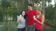 Kara Taitz Jayson Blair Amber Lancaster at the Muscle Milk Women's Fitness Retreat at Beverly Hills CA