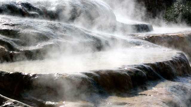 Karahayit Hot Springs, Pamukkale, Denizli, Turkey