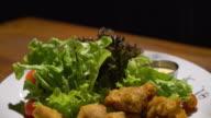 karake chicken with salad