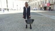 Karin Teigl wearing HM jacket and dress Zara shoes Aigner bag and Topshop glasses is seen during Milan Fashion Week Spring/Summer 2018 on September...