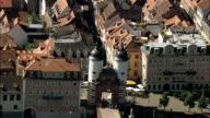 Karl theodor Bridge  - Aerial View - Baden-Württemberg,  Karlsruhe Region,  Stadtkreis Heidelberg helicopter filming,  aerial video,  cineflex,  establishing shot,  Germany