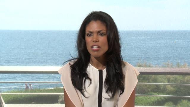 INTERVIEW Karla Mosley at 55th Monte Carlo TV Festival Day 1 on June 15 2015 in MonteCarlo Monaco