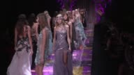Karlie Kloss Kendall Jenner Doutzen Kroes Lara Stone Joann Smalls and more fellow models on the Versace Haute Couture Runway for the final round and...