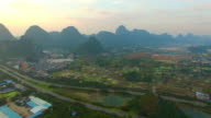 Karst area of the sunset