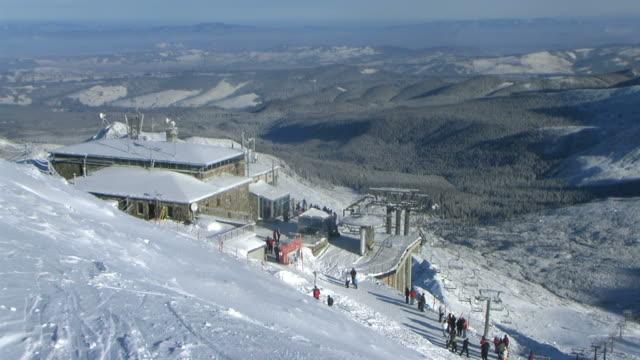 Kasprowy Wierch chairlift in winter