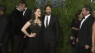 Kat Dennings and Josh Groban at 2015 Tony Awards Arrivals at Radio City Music Hall on June 07 2015 in New York City
