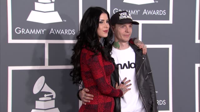 Kat Von D and Deadmau5 at The 55th Annual GRAMMY Awards Arrivals in Los Angeles CA on 2/10/13